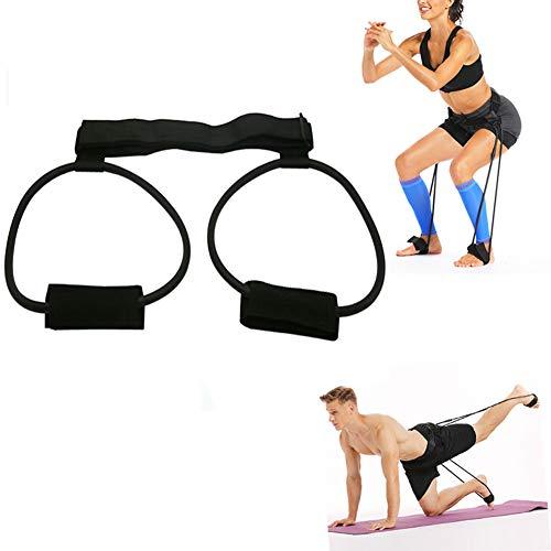 Gossifan Booty Resistance Belt Bands Resistance Bands Waist Belt for Legs and Butt Leg Workout Equipment-Black