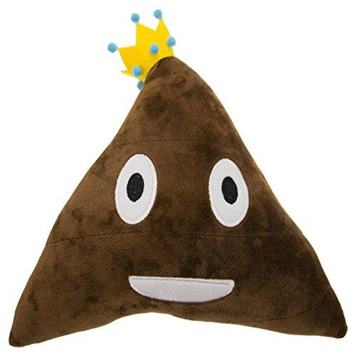 Royal Deluxe Plush Smiling Poop Emoji Pillow Prince Or Princess Soft Emoticons Cushion Toys