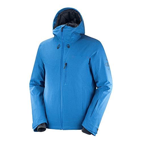 Salomon Men's Standard Untracked Jacket, Indigo Bunting/Heather/Ebony, X-Large
