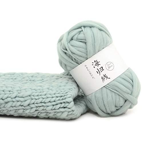 KunmniZ DIY bufandas de lana gruesa suéteres tejidos a mano ganchillo hilos naturales para suéter (06)