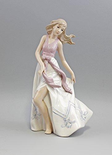 Porzellan-Figur Tänzerin im Sommerkleid