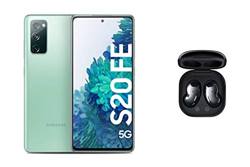 Samsung Galaxy S20 FE 5G in Cloud Mint, Android Smartphone ohne Vertrag, 128 GB Speicher und Samsung Galaxy Buds Live,kabellose Bluetooth-Kopfhörer mit Noise Cancelling (ANC),Wireless in Mystic Black