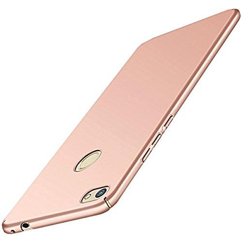 Carcasa Huawei P8 Lite (2017 series) ,Qissy® Todo incluido Anti-Scratch Anti-huella dactilar a prueba de choque Suave Protective Case Cover Skin para Huawei P8 Lite 2017 series (oro rosa)
