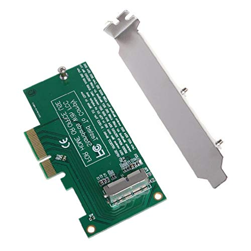 Sara-u Adapter Card to PCI-E 4X 16X for 2013 2014 2015 2016 Compatible for MacBook Air A1465 Pro A1398 Retina SSD Converter Splitter Extension Cable Adapter Card Reader Converter Drive Cord Base Case