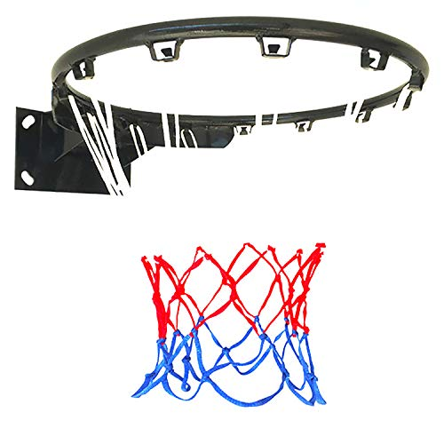 ZZLYY Tableros Portátiles De Baloncesto,Una Canasta De Baloncesto Sólida,Adecuado para Deportes Y Fitness En Interiores Y Exteriores, con 2 Redes De Baloncesto, Negro