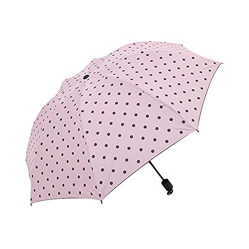 TreeLeaff Paraguas de viaje a prueba de viento, 7 costillas, diseño de...