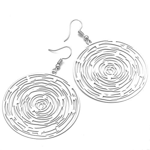 Ohrringe Damen hängend silber Spirale Lucil Spiral