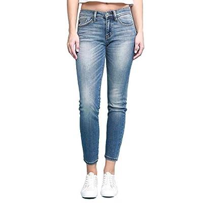 Women's Relaxed Ankle Skinny Medium Wash Denim Jeans