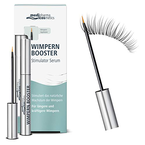 Medipharma Cosmetics Eyelash Booster Serum - Silicon Free & Paraben Free Natural Eyelash Growth Enhancer - Best Lash and Eyebrow Serum for Longer, Thicker, Fuller and Healthier Lashes