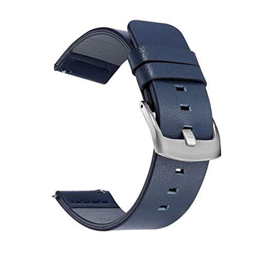 BZRXQR Liberación rápida Correa de Banda de Reloj de Cuero de 20 mm 22mm for Samsung Galaxy Watch 3 41mm 45mm Active2 40 44mm Reloj de Reloj Relojes rápidos 18mm 24mm Correa de Hombre