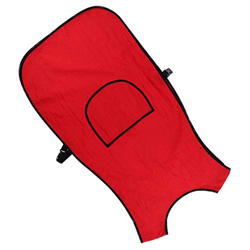 Homyl Impermeable Delantal de Corte de Pelo Capa de Peluquería Profesional Vestidos de Salón - Rojo