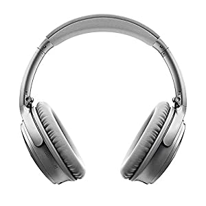 Bose QuietComfort 35 (Series II) Wireless Headphones, Noise Cancelling, Alexa voice control - Silver I Worldwide Version