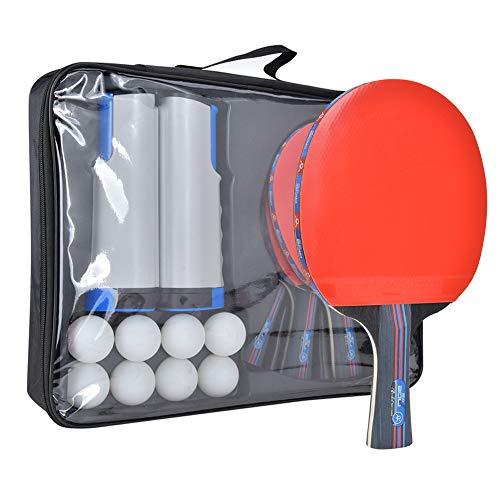 Juego De Entrenamiento De Tenis De Mesa Rack De Red Raquetas Pelotas De Ping Pong Accesorios para Interiores Y Exteriores