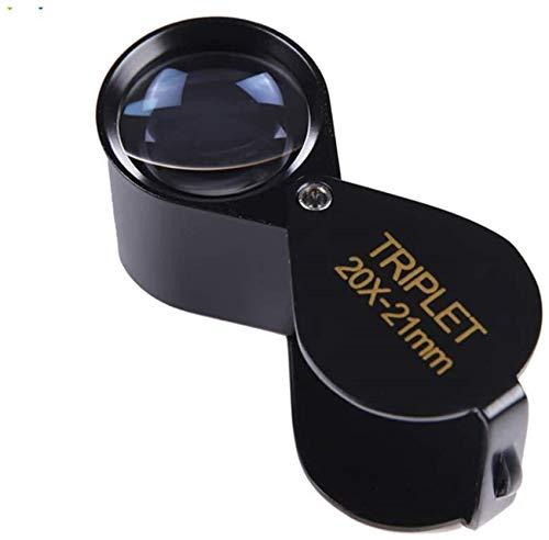 PFTHDE Lupa Lupa HD Mirada Plegable Cintura de Diamante Código Alto 10 Veces 20 Veces 30 Veces Aumente el Espejo para Leer Manualidades Reparación de Lupa
