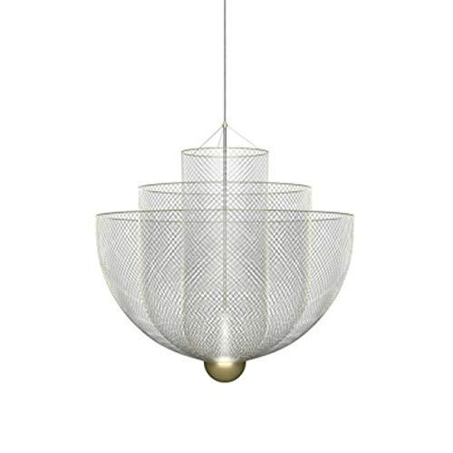 LIANGANAN Lujoso contemporáneo Lustre Hierro LED Larga Colgante Lámpara de araña for Dormitorio Comedor Sala de estar Hotel Escalera Decoración de apartamento (Emitting Color : Warm White)