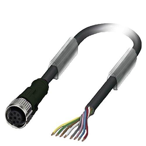 Siemens 3SX5601-2GA03 8-Pin, freies Kabelende 3 m lang, für RFID-Sicherheitsschalter 3SE63, an gerader Steckdose M12, für 2A und 30 V, Weiß