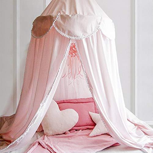 NIBESSER Betthimmel für Kinder Baby Baldachin 240cm Prinzessin Chiffon Hängende Moskitonnetz für Schlafzimmer Dekoration für Bett und Schlafzimmer