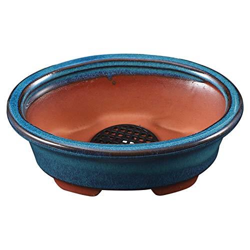 DOITOOL Vaso di Fiori in Ceramica Succulente Cactus Fioriera Vasi Contenitore Bonsai Fioriere con Foro L