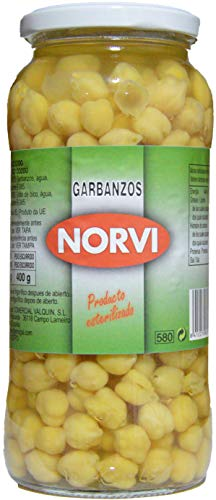 Garbanzo cocido Peso Neto. 570gr. Peso Escurrido 400gr.(Pack de 3 botes)