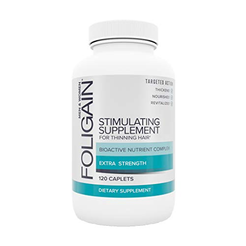 FOLIGAIN Haargroei tabletten voor dunner wordend haar - Met biotine, foliumzuur, zink, zaagpalmetto en Ginkgo Biloba-bladextract - 120 capsules