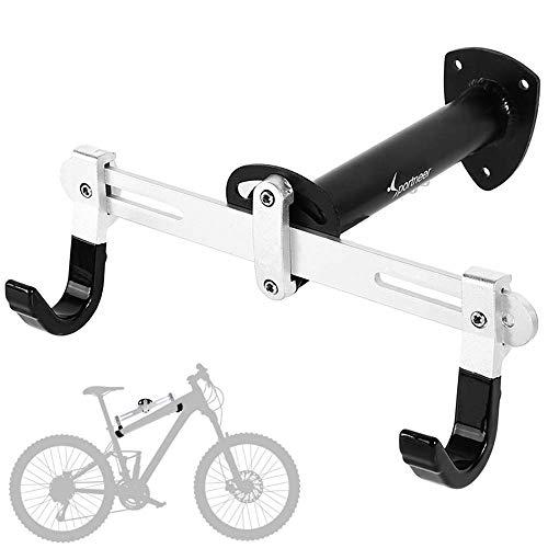 Sportneer Supporto da parete per bici, Gancio per biciclette da interno per bici da strada, Mountain Bike, BMX, Lunghezza angolare regolabile