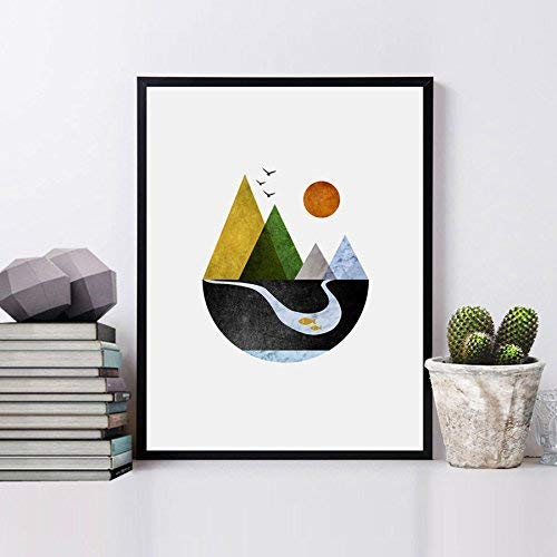 Mountains Art Print Minimal Home Decor Animer and price revision Wall Scandinavian Dedication Pri
