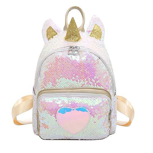 URMOSTIN Mini Mochila Unicornio, Lentejuelas Magic Reversible Mochila de Escolar, Brillo Bling Mochila de Viajes Bolso de Hombro para Mujeres Niñas