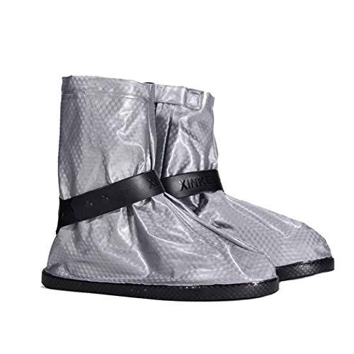 QHYY Couvre-Chaussures Anti-Pluie Formule stéréoscopique Pied en PVC Ensemble Bottes de Pluie lavables Portables