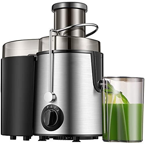 Licuadora Slow Licuadora de prensado en frío Licuadora de extracción lenta para zumos, helados y smoothiesMotor silencioso 55 rpm2 Filtros incluídos Libre de BPA