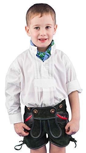 Isar-Trachten Kinder Trachtenhemd Isar Trachten, weiß, Gr. 98