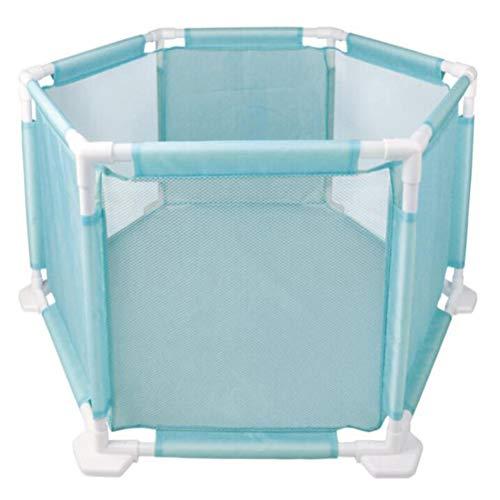 GUO@ Parc garde-corps garde-corps barrière de sécurité barrière de bébé maillage pliable océan balle piscine clôture de jeu portable Playard Play Pen - Blue Hexagon