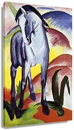 DPZAFL Lienzos Decorativos Poster de expresionismo de Caballo Azul de Franz Marc, impresión de Cuadros artísticas, Decoracion Retro, Cuadros Colgantes, Paredes, Pared 60x90cm x1 Sin Marco