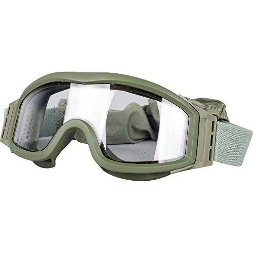 Valken Airsoft Tango Schutzbrille, olivfarbener Rahmen
