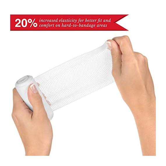 Elastic Stretch Gauze Rolls (6-Pack) - [ 2X Longer ] - Size: 4 inch x 8 Yards 3 Gauze Rolls