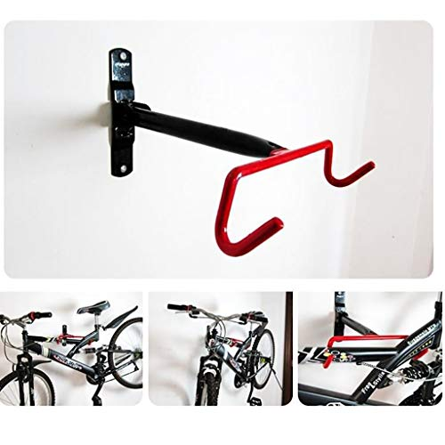 Yeavail Folding Bike Rack, Wall Mount Bicycle Dual Hanger Storage Hook, Bike Hanging Bracket Holder with Fitting Screws, Space Saving Cycle Stand for Home Garage