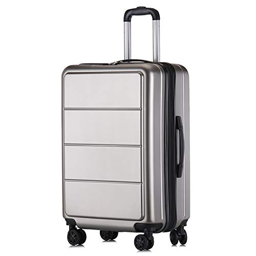 Adlereyire Trolley Suitcase Lightweight Durable Carry On Cabin Hand Luggage Set, Travel Bag with 4 Wheels (Color : Silver, Size : 42 * 26 * 60cm)
