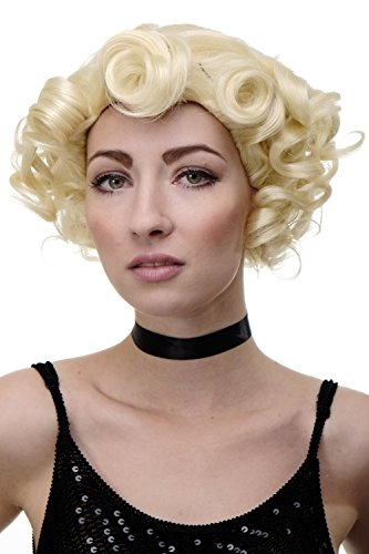 WIG ME UP - Perruque dame années 20 swing charleston boucles vagues blond platine lumineux GFW1717-613