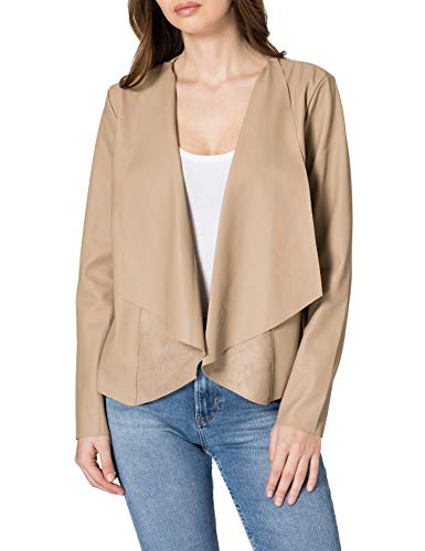 Only Onlliana Drapy Faux Leather Jacket Otw Chaqueta, Silver Mink, M para Mujer