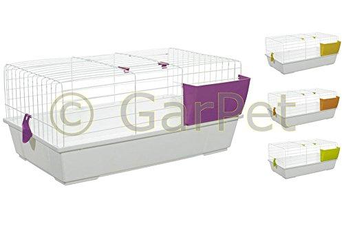 GarPet Kaninchenkäfig Hasenkäfig Meerschweinchen Hasen Kaninchen Käfig Stall 80