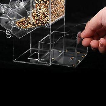 POPETPOP Mangeoire automatique pour oiseaux 21 x 15 x 7,5 cm