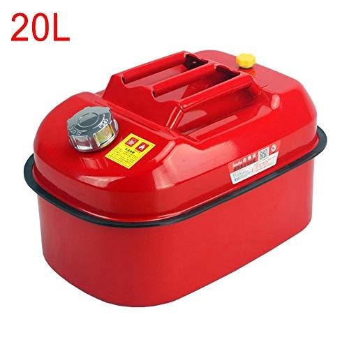 ningxiao586 5L/10/20L Verdickt Benzinkanister Kraftstoffkanister Metall + Ausgießer Flexibel für Benzin und Diesel