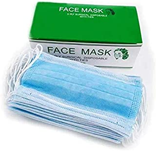 Face Mask - 3 Layers - Blue - 50 Masks/Box