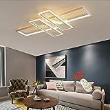 SKSNB Lámpara de Techo LED Rectangular Lámpara Colgante Moderna para Sala de...