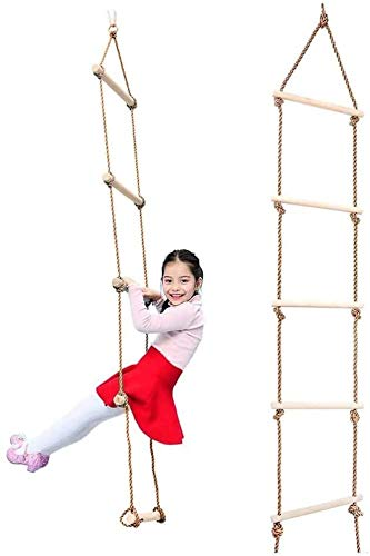 YLJYJ Échelle de Corde Enfants Jeu d'escalade Jeu drôle Jouets pour balançoire Accessoires Arbre Maison Aire de Jeux Ensemble