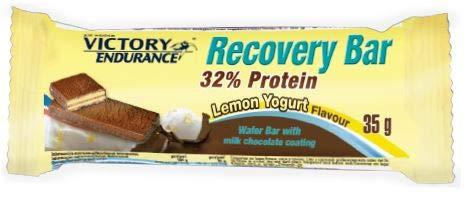 Victory Endurance Recovery Bar Sabor Yogur Limón. Barrita recuperadora con 32% de proteína (12x35 g)