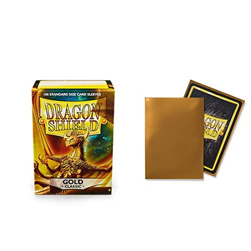 Dragon Shield Classic Gold Standard Size 100 ct Card Sleeves Individual Pack