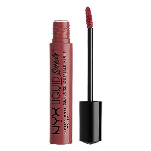 NYX Professional Makeup Lippenstift - Liquid Suede Cream Lipstick, samtig-weicher Creme-Lippenstift, aufregend mattes Finish, 4 ml, Softspoken 04
