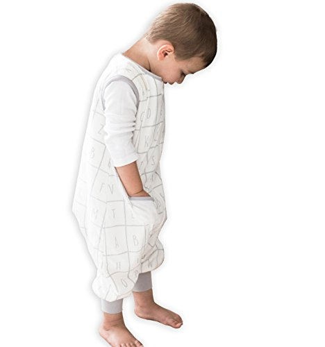 TEALBEE DREAMSUIT: Toddler and Early Walker Baby Wearable Blanket - 1.2 TOG Sleeping Sack with Feet keeps Toddlers & Babies Warm during Sleep from Summer to Winter - Softest Sleepsuit (2t-3t, X-Large)