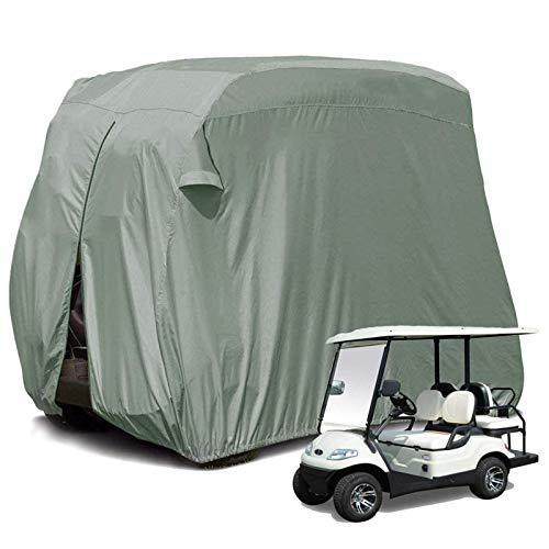 JLKDF Cubierta Impermeable para carritos de Golf de 2/4 plazas para pasajeros al Aire Libre Carritos de Golf Cubierta Protectora para Todo Clima Almacenamiento Prevención de Polvo Nylon