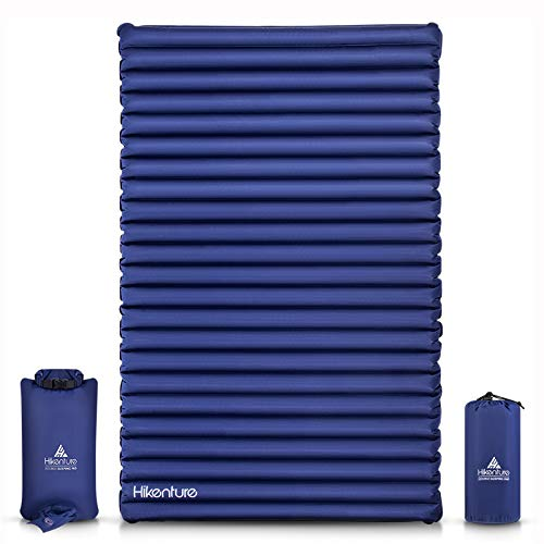 Hikenture Double Sleeping Pad - Extra Thick 3.75 in Camping 2 Person Sleeping Mat - Ultralight and...